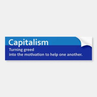 Pegatina para el parachoques 2 del capitalismo pegatina para auto