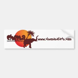 Pegatina para el parachoques 2 del safari de Chema Pegatina De Parachoque