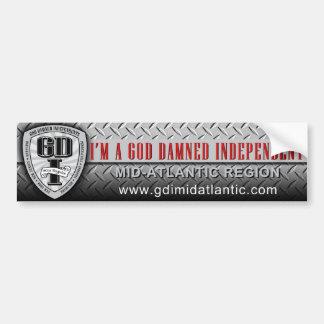 Pegatina para el parachoques 3 de GDI Etiqueta De Parachoque