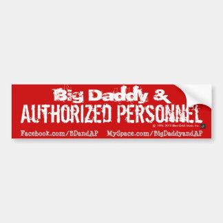 Pegatina para el parachoques 4 - Logotipo de BD&AP Pegatina Para Auto