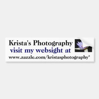 Pegatina para el parachoques #5 05 de KristasPhoto Pegatina Para Auto