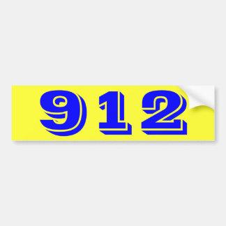 Pegatina para el parachoques 912 nueve doce pegatina para auto