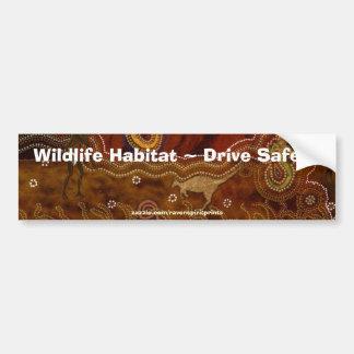 Pegatina para el parachoques aborigen australiana pegatina de parachoque