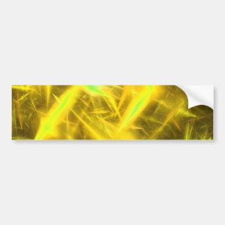 Pegatina para el parachoques abstracta amarilla de pegatina para auto