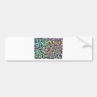 Pegatina para el parachoques abstracta del pulpo pegatina para auto
