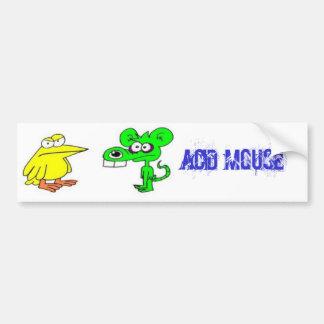 Pegatina para el parachoques ácida del ratón etiqueta de parachoque