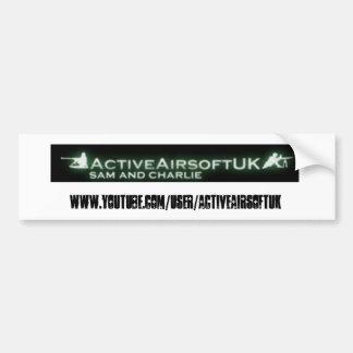 Pegatina para el parachoques activa de Airsoft Pegatina De Parachoque