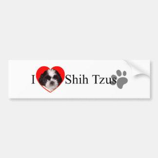 Pegatina para el parachoques adorable de Shih Tzus Pegatina De Parachoque
