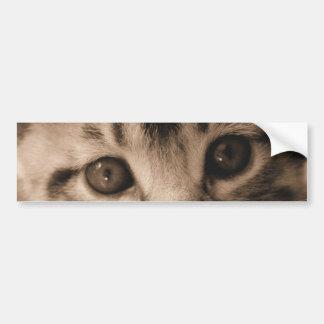 Pegatina para el parachoques adorable del gatito pegatina para auto