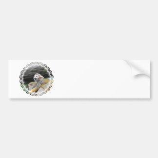 Pegatina para el parachoques adorable del mono de  pegatina para auto