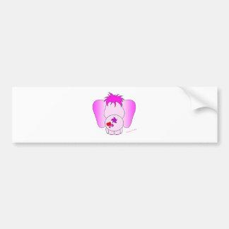 Pegatina para el parachoques afortunada del meñiqu etiqueta de parachoque