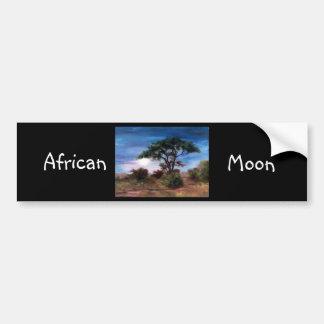 Pegatina para el parachoques africana de la luna pegatina para auto