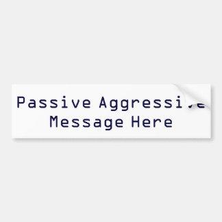 Pegatina para el parachoques agresiva pasiva del m pegatina para auto