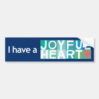 Pegatina para el parachoques alegre del corazón -  pegatina para auto