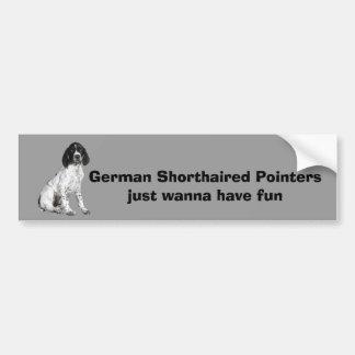 Pegatina para el parachoques alemana del perrito d pegatina de parachoque