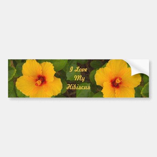Pegatina para el parachoques amarilla de la flor pegatina para auto
