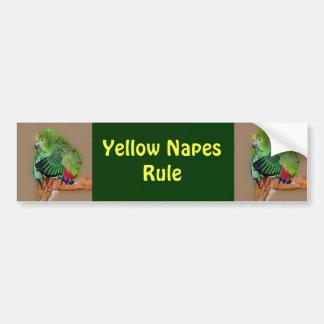 Pegatina para el parachoques amarilla de la regla  pegatina de parachoque