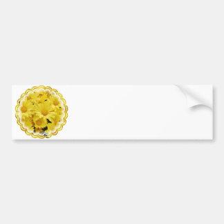 Pegatina para el parachoques amarilla de las momia pegatina de parachoque