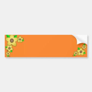 Pegatina para el parachoques amarilla del fondo de etiqueta de parachoque