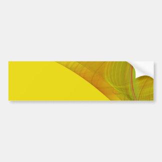 Pegatina para el parachoques amarilla del fondo de pegatina para auto