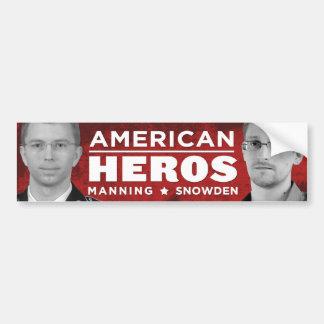 Pegatina para el parachoques americana de los héro pegatina para auto