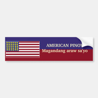 Pegatina para el parachoques AMERICANA de PINOY Pegatina Para Auto