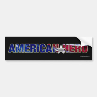 Pegatina para el parachoques americana del héroe pegatina para auto