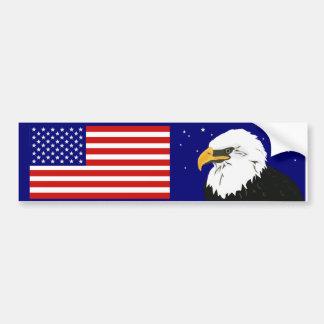 Pegatina para el parachoques americana del orgullo pegatina de parachoque