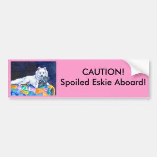 Pegatina para el parachoques americana del perro e etiqueta de parachoque