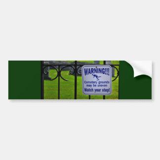 Pegatina para el parachoques amonestadora pegatina de parachoque