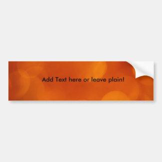 Pegatina para el parachoques anaranjada del fondo pegatina para auto