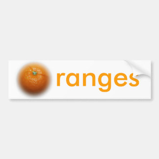 Pegatina para el parachoques anaranjada pegatina para auto