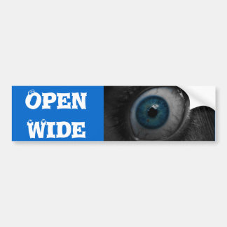 Pegatina para el parachoques ancha abierta del ojo pegatina para auto