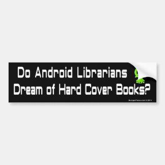 Pegatina para el parachoques androide de los bibli etiqueta de parachoque