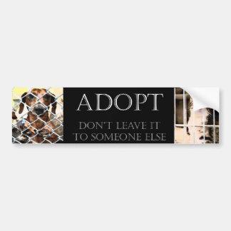 Pegatina para el parachoques animal de la adopción pegatina de parachoque