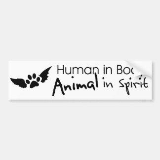 Pegatina para el parachoques animal espiritual pegatina para auto