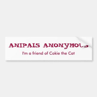 Pegatina para el parachoques anónima de Anipals Pegatina Para Auto