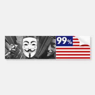 Pegatina para el parachoques anónima del 99 etiqueta de parachoque