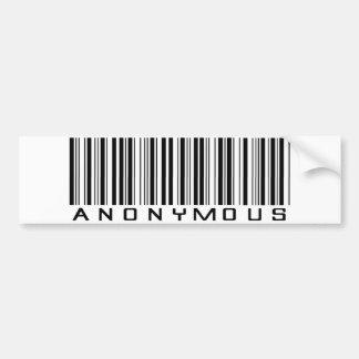 Pegatina para el parachoques anónima del código de pegatina para auto