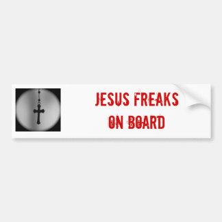 Pegatina para el parachoques anormal de Jesús Pegatina De Parachoque
