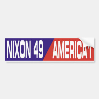 Pegatina para el parachoques anti 1969 de Nixon de Pegatina Para Auto