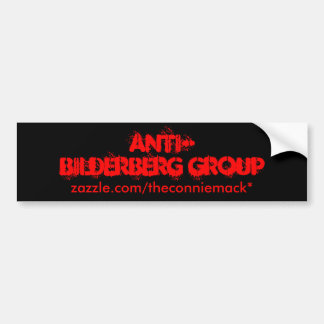 Pegatina para el parachoques Anti-Bilderberg III Pegatina De Parachoque