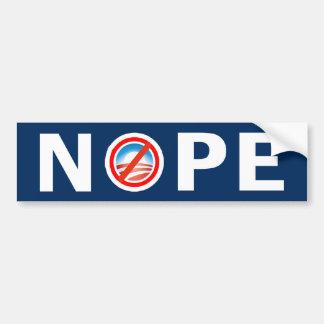 Pegatina para el parachoques anti de NOPE Obama Pegatina Para Auto