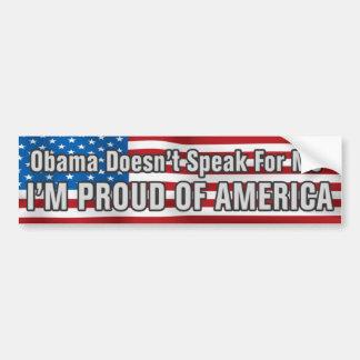 Pegatina para el parachoques anti de Obama Pegatina De Parachoque
