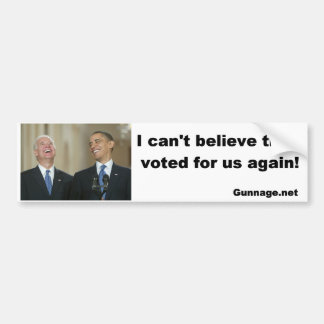 Pegatina para el parachoques anti de Obama/de Bide Etiqueta De Parachoque