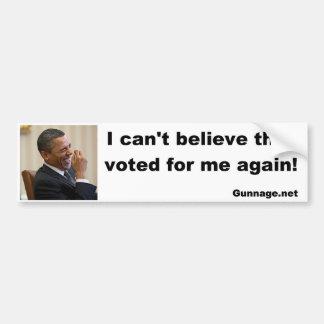 Pegatina para el parachoques anti de Obama - no pu Pegatina De Parachoque