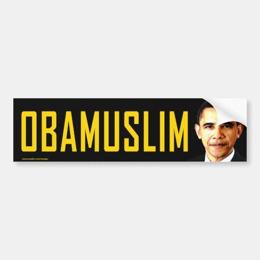 """pegatina para el parachoques anti de Obama """"Obamus Pegatina De Parachoque"""