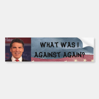 Pegatina para el parachoques anti de Rick Perry Etiqueta De Parachoque