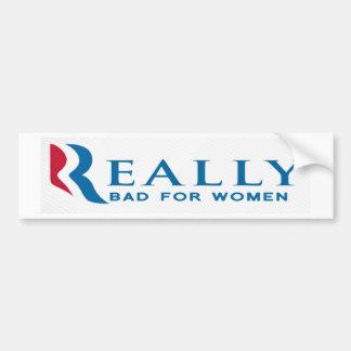Pegatina para el parachoques anti de Romney: Malo  Pegatina Para Auto