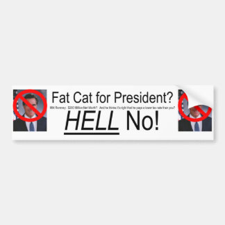 Pegatina para el parachoques anti de Romney Pegatina Para Auto